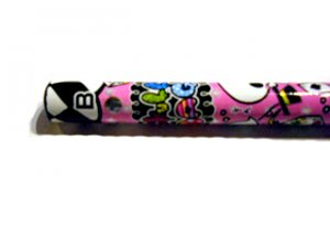 Kawaii Skulls Pencil (Pink)