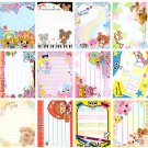 20 Various Mini Notepad Stationary Sheets (A)