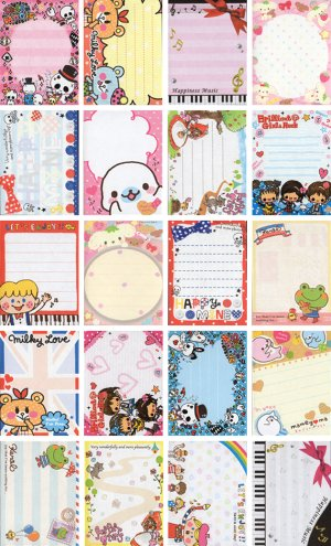 20 Various Mini Notepad Stationary Sheets (C)