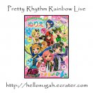 Pretty Rhythm Rainbow Live Coloring Book