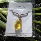 Wishing Stone Crystal Pendant ~ Champagne Yellow