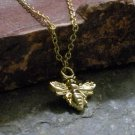 Delicate Gold Plated Bee Necklace