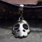 Charm Necklace - Antique Silver Decorative Skull Pendant