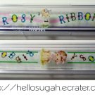 Vintage Japanese Shoujo Rosy Ribbon Pencil Boxes