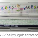 Vintage Japanese Shoujo Rosy Ribbon Pencil Box #1