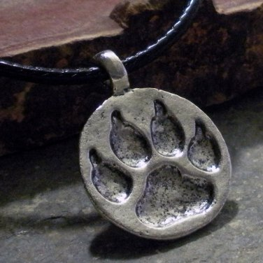 Charm Necklace - Silver Bear Claw Pendant