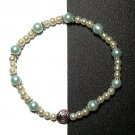 Kazumi Elastic Glass Pearl Bracelet [36] Sky Blue