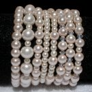 Soraya Princess Bracelets - Baby Pink Glass Pearls ( Set of 8 )