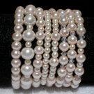 Soraya Princess Bracelets - Baby Pink Glass Pearls ( Set of 8 )