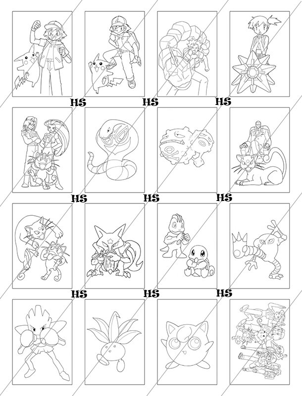HS001 Pokemon Coloring Book Collection 01 PDF