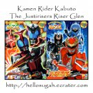 [B03-S03] Kamen Rider Kabuto + The Justirisers Riser Glen Coloring Book