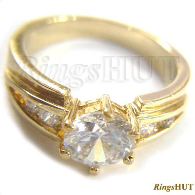1.26 Crt. 14K Gold Diamond Engagement Ring, Ladies Ring,Wedding Ring,Diamond Jewelry
