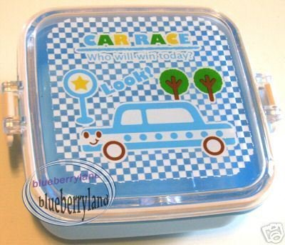 Japan Children Bento side dish Lunch Box Food snack case blue