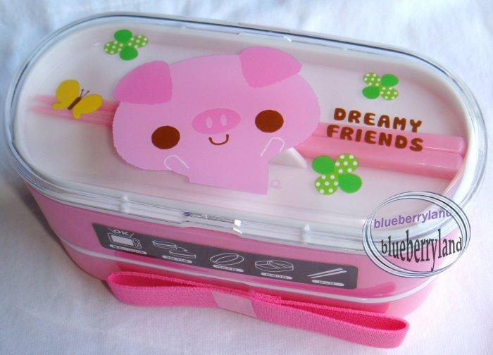 Japan Bento Lunch Box 3 Pcs Set DREAMY FRIENDS pig