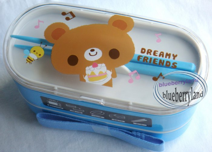 Japan Bento Lunch Box 3 Pcs Set DREAMY FRIENDS Bear