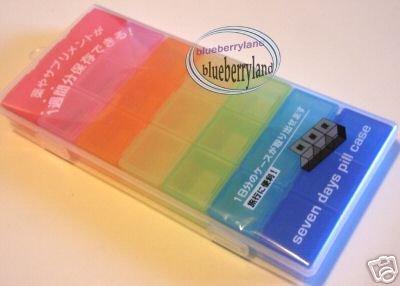 7 Days Pill Case Box holder dispenser keeper organizer