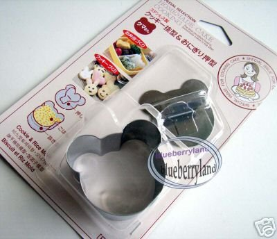 Japan SUSHI Rice Mold set Bear shape Cookie cutter