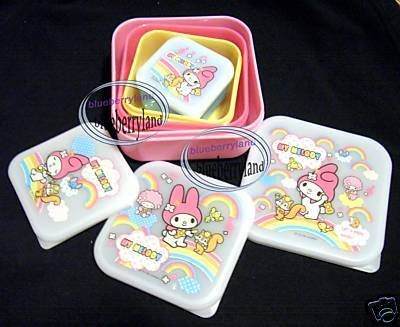 My Melody Bento Lunch Box Food Container case 4pc set