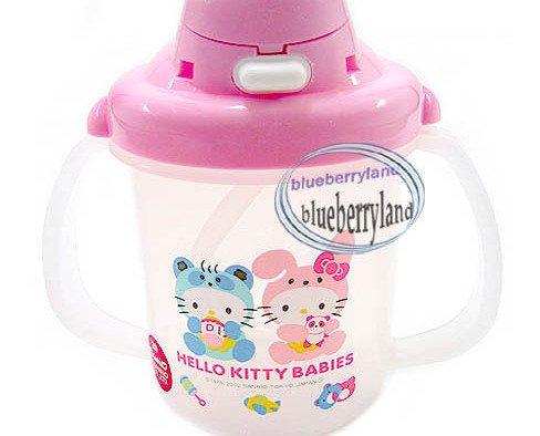 Japan Hello Kitty Child Baby Straw Cup mug 220ml kids child