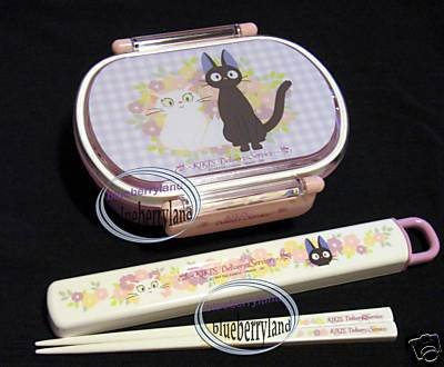 Kiki's Delivery Service Cat Bento Lunch Box Chopstick Jiji