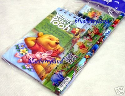 Disney Winnie The Pooh 4 Pcs Stationery Gift Set school