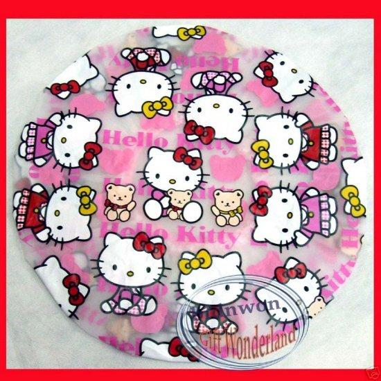 Hello Kitty Shower Cap Children ladies girls bathroom bath accessories Gift Set of 2