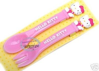 Japan Sanrio Hello Kitty Spoon & Fork set kids babies meal BB