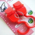 Japan Baby Stroller Pram HOOK Pushchair Hooks Carrier set of 2 Red