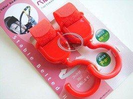 Japan Baby Stroller Pram HOOK Pushchair Hooks Carrier set of 2 Red