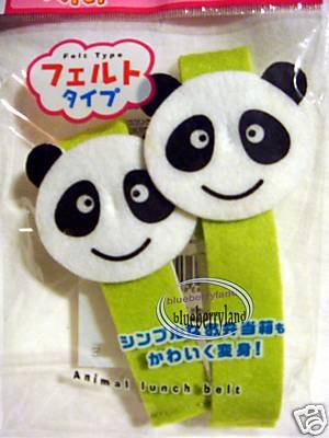2 Japan Panda Felt Bento Lunch box Strap Belt bento