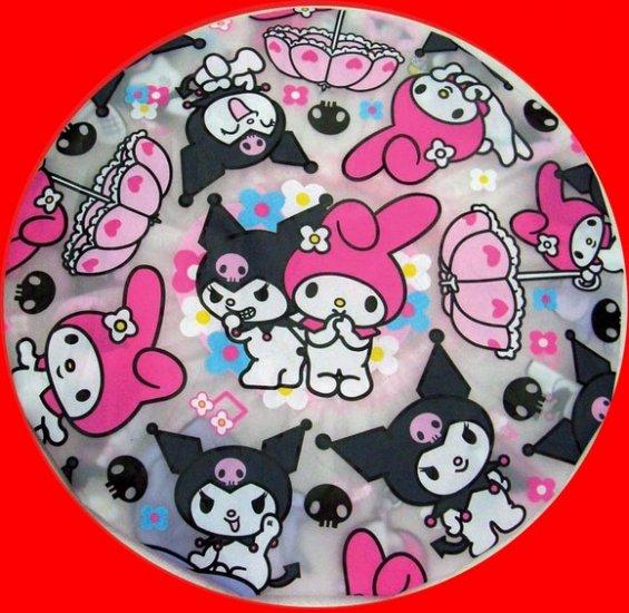 Kuromi My Melody + Hello Kitty Shower Cap Children Adult girls bathroom bath Gift Set of 2