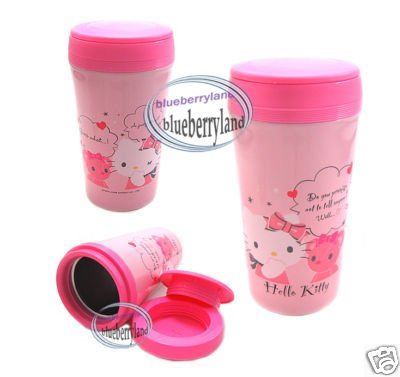 Japan Sanrio HELLO KITTY Thermal Mug Cup Drinkware car