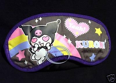 Sanrio Kuromi / My Melody Eye Mask Blindfold Sleep rest travel