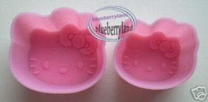 Sanrio HELLO KITTY Silicone Mold Food Jelly Cups x 2 Sizes