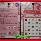 Japan Sanrio Hello Kitty Glitter Nail Art Sticker Decal girls x 2 Pcs Set