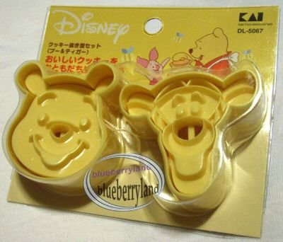 Japan Winnie the Pooh & Tigger Cookie cutter Stamp mold mould