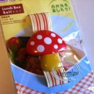 Japan 3D Mushroom Bento Lunch box Strap Belt bento case