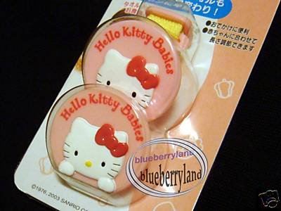 Sanrio HELLO KITTY Baby Bib Clip holder Set