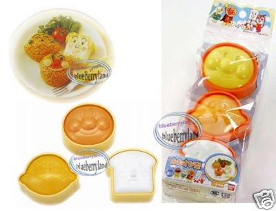 Japan Bandai Anpanman SUSHI Rice Mold Maker Set x 3 Pcs