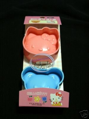 Sanrio HELLO KITTY SUSHI Rice Mold Maker Bento Accessories 2 pc
