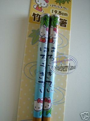 Japan Sanrio HELLO KITTY Chopsticks bento accessories ladies