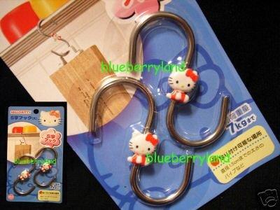 Sanrio HELLO KITTY 2 Home Kitchen Metal Hooks - 7kg each