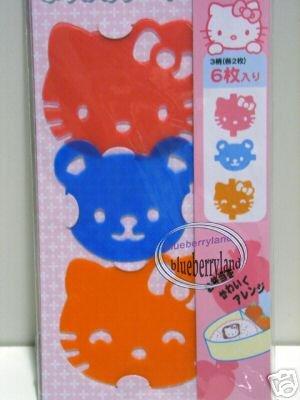 6 Sanrio Hello Kitty Bento Furikake Food Divider Sheet