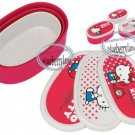Sanrio Hello Kitty Bento Snack Lunch Box Food Container case 3pc set