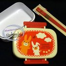 Japan Rabbit Bento Lunch Box with Chopstick 2 Pcs Set