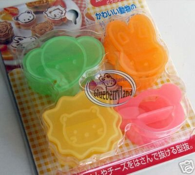 Japan 4 Food Mold cutter cookie Cutters Molds set mould