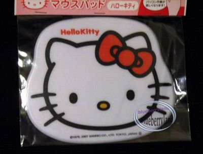 Japan Sanrio HELLO KITTY Face Computer Mouse pad PC white
