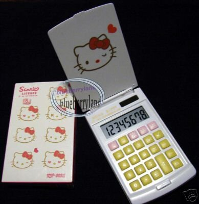 Sanrio HELLO KITTY Solar Pocket Calculator Stationery