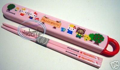 Sanrio Hello Kitty Bento Box Chopstick in Box ladies