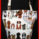 Dog Puppy Satchel Bucket Handbag Tote BAG Weekend causal Purse